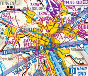 VFR map SIERRA LSZH