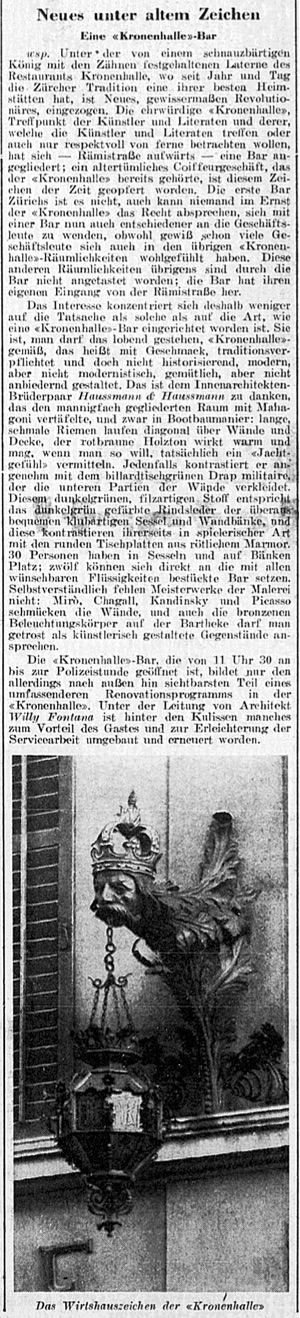 NZZ_19651106_Kronenhalle
